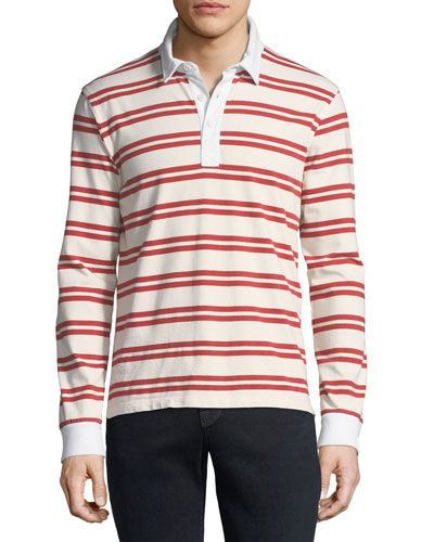 Men's Striped Rugby Shirt