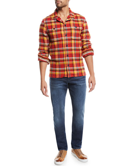 FRAME Men's L'Homme Slim Straight-Leg Denim Jeans