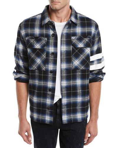 Men's Aki Japanese Stripe Overshirt