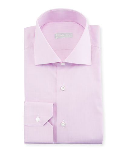 Men's Check Barrel-Cuff Dress Shirt, Lilac