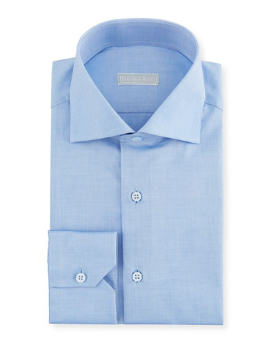 Men's Small Print Dress Shirt