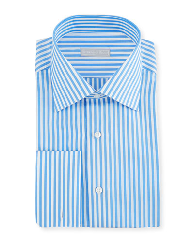 Men's Wide Striped Dress Shirt