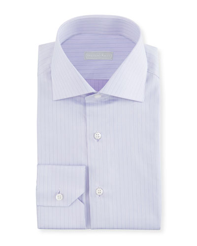 Men's Thin Stripe Dress Shirt