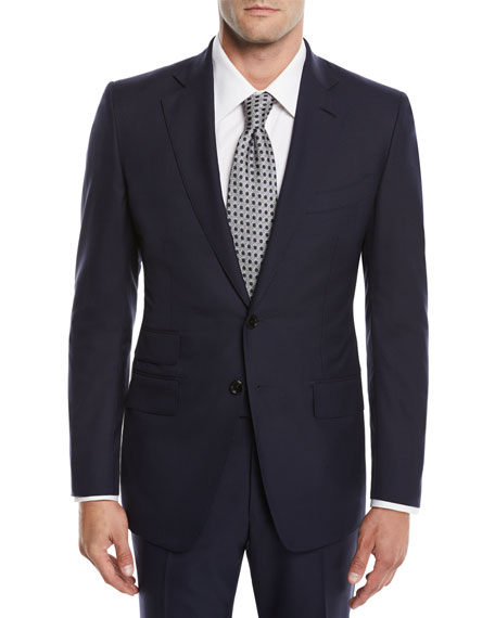 Men's O'Connor Two-Piece Solid Wool Suit