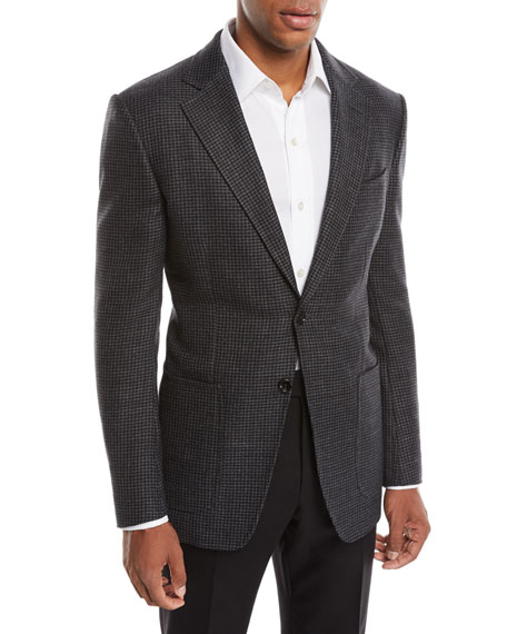 TOM FORD Men's O'Connor Wool/Cashmere Houndstooth Blazer Jacket