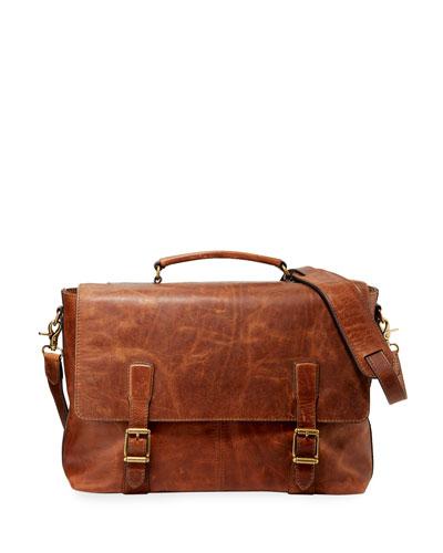 Men's Logan Top Handle Flap Briefcase