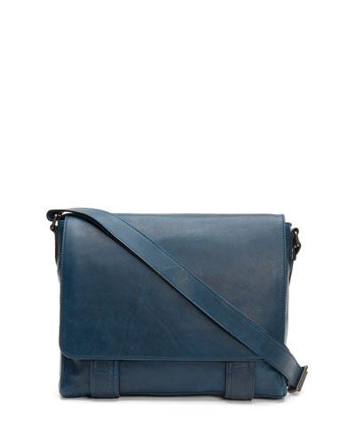 Men's Logan Leather Messenger Bag