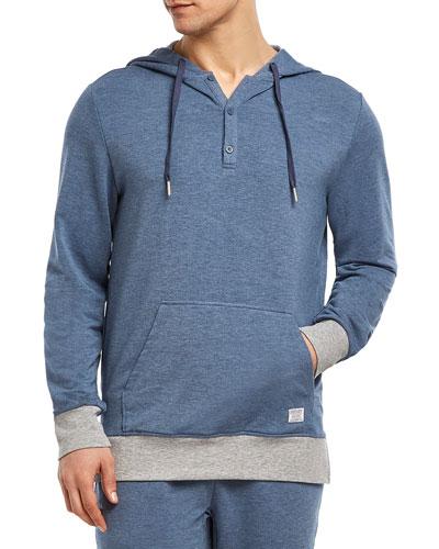 Men's Hooded Henley Sweatshirt