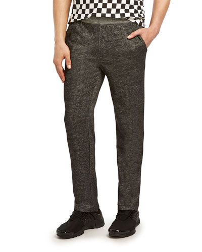 Men's Speckled Terry Slim-Fit Lounge Pants