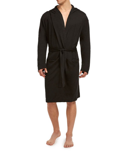 Men's Terry Fitted Slim-Fit Hooded Robe
