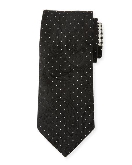 Etro Men's Contrast-Print Formal Silk Tie