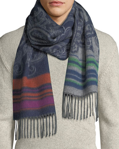 Men's Reversible Paisley Scarf