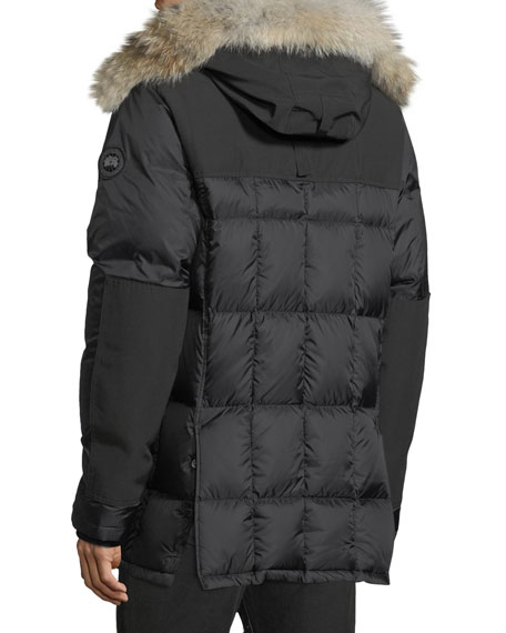 Men's Callaghan Fur-Trim Hooded Parka Coat