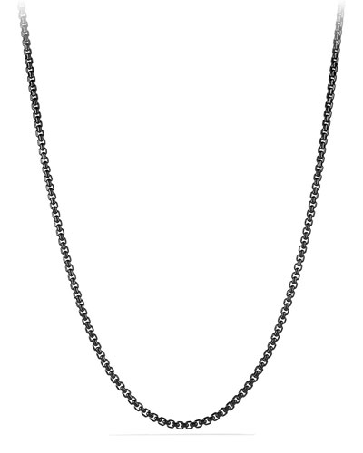 Men's 4mm Stainless Steel Box Chain Necklace, 22