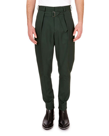 Givenchy Men's Trousers with Pleats & Belt