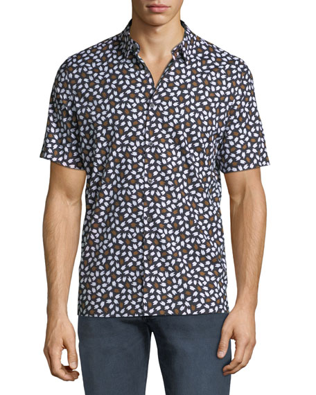 Theory Men's Murrary Driggs-Print Short-Sleeve Sport Shirt