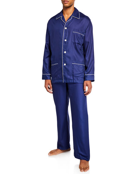 Derek Rose Men's Lombard 6 Cotton Pajamas with