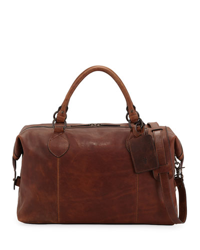 Men's Logan Leather Overnight Bag
