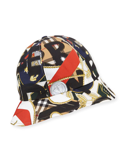Men's Medal Vintage Check Bucket Hat