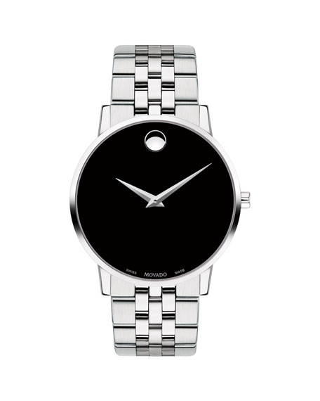 Movado Men's 40mm Ultra Slim Watch with Bracelet & Black Museum Dial