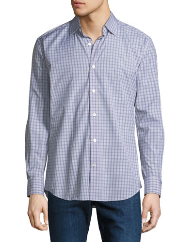 Men's Glen Plaid Cotton Sport Shirt