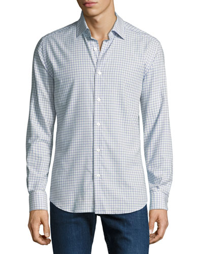 Men's Medium Check Cotton Sport Shirt