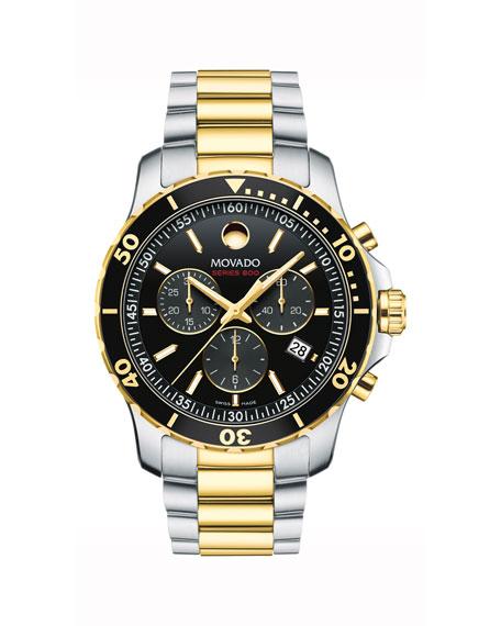 Movado Men's Series 800 Chronograph Watch with 2-Tone Bracelet
