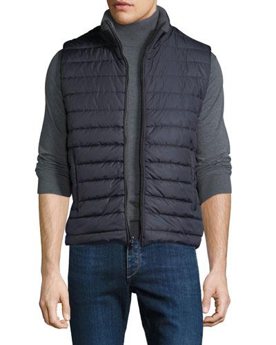 Men's Zip-Front Puffer Vest