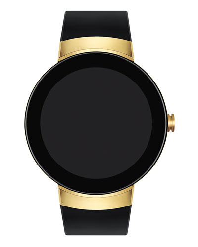 Men's 46.5mm Connect Smartwatch, Black/Golden