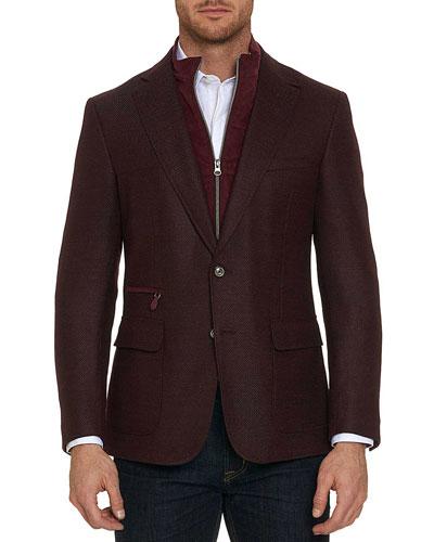 Downhill Wool-Cashmere Blazer with Warmer