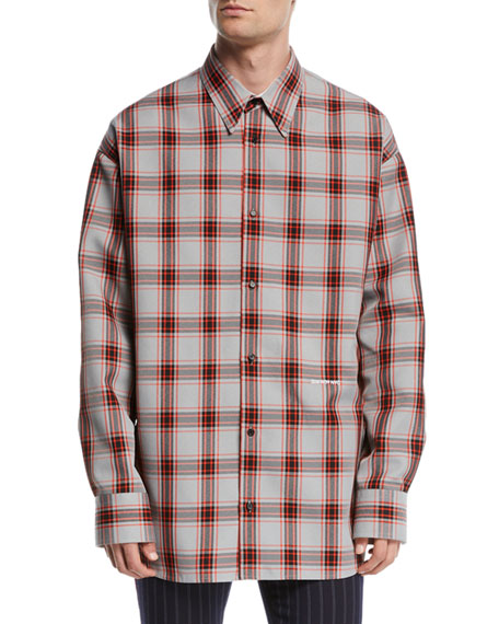 Men's Tartan Check Sport Shirt