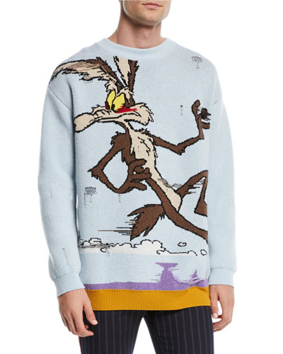 Men's Looney Tunes Wile E. Coyote Jacquard Sweatshirt