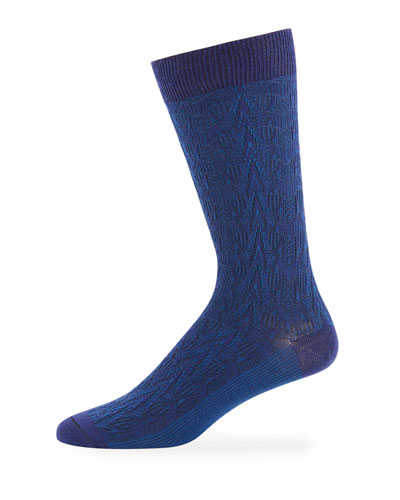 Ace & Everett Men's CB Textured-Knit Wool-Blend Socks