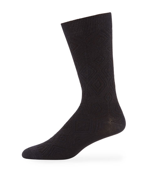 Ace & Everett Men's MB Textured Wool-Blend Socks