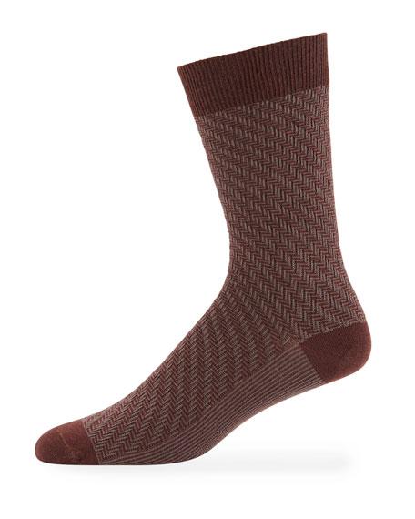 Ace & Everett Men's RF Textured Wool-Blend Socks