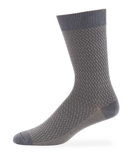 Ace & Everett Men's DT Textured Wool-Blend Socks