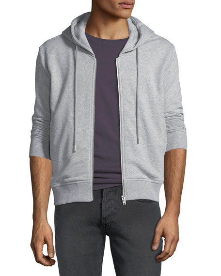 MCM Men's Graphic-Back Zip-Front Hoodie