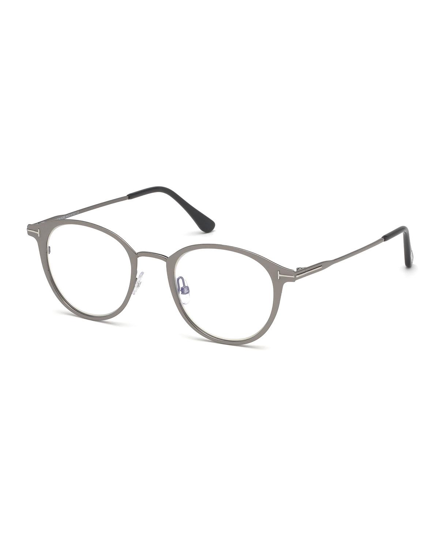9eb3958de533 TOM FORD Men s Blue Light-Blocking Oval Metal Optical Glasses