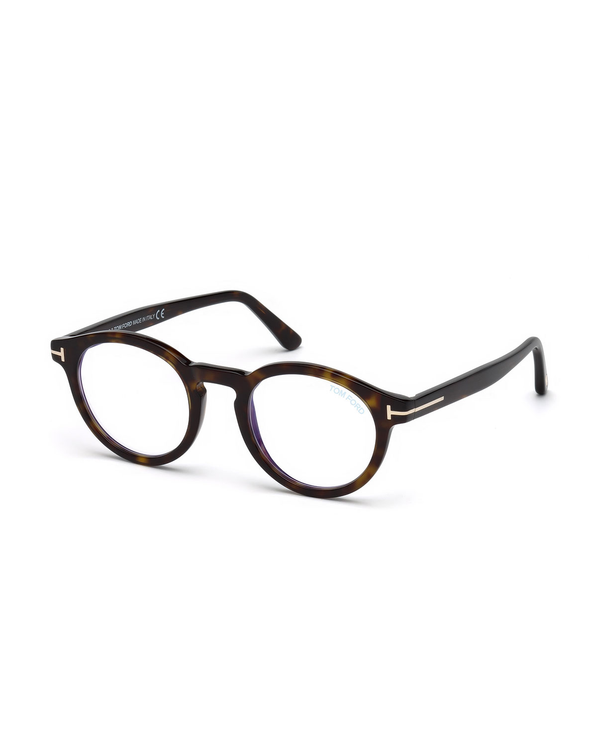 dded9ebaba0b TOM FORD Men s Blue Light-Blocking Round Acetate Optical Glasses ...