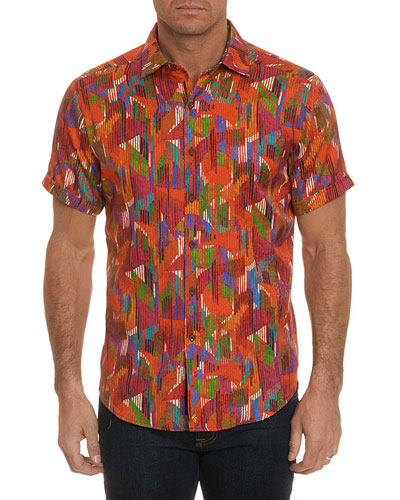 Men's Gallagher Graphic Short-Sleeve Sport Shirt