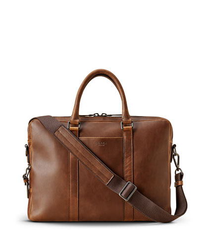 Men's Navigator Leather Laptop Briefcase