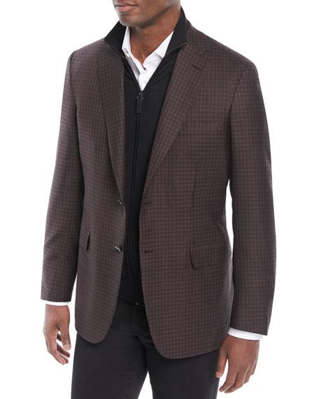 Men's Check Wool/Silk Jacket