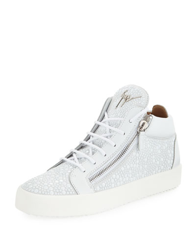 Men's Bubble Suede Mid-Top Sneakers
