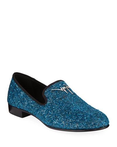 Men's Kevin Glitter Formal Slippers