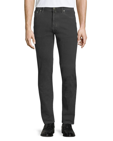 Jacob Cohen Men's Micro-Check Button-Fly Jeans