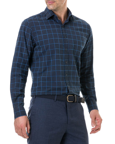 Men's Hindley Creek Windowpane Sport Shirt
