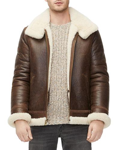 Men's Auden Shearling-Lined Aviator Jacket