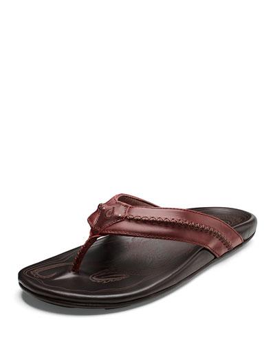 Men's Mea Ola Faux-Leather Flip-Flop Sandals