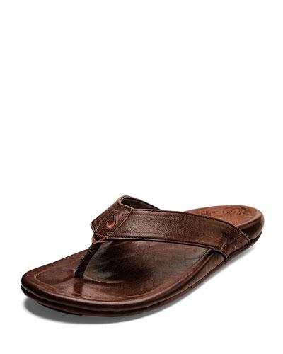 Men's Kulia Leather Thong Sandals