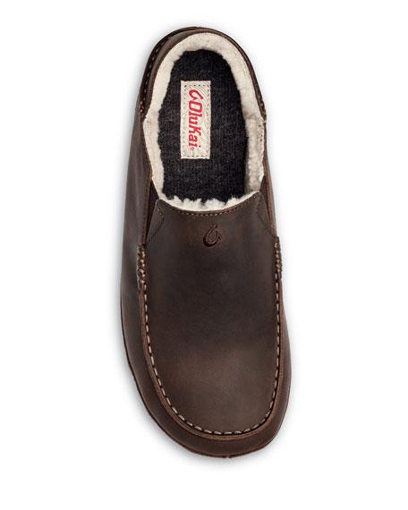 Olukai Men's Moloa Shearling-Lined Slippers